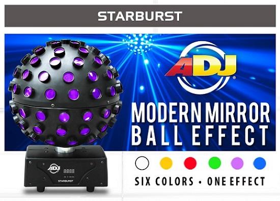 American dj starburst led centerpiece effect light with