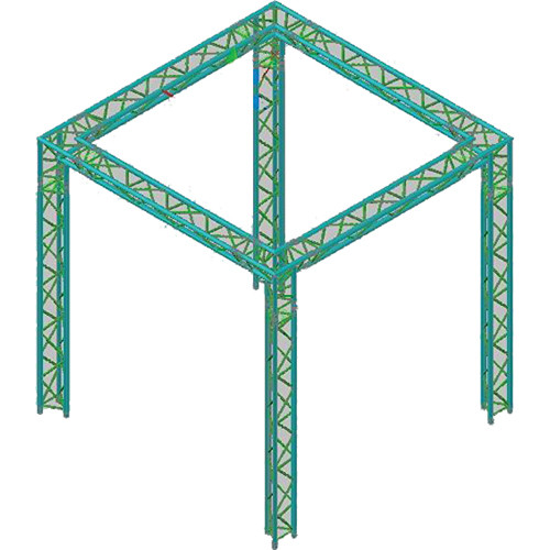 Global truss america tr 10x10 10ft x10ft 4 legged f33 for Truss package cost