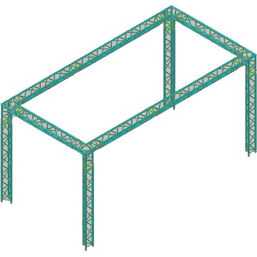 Global truss america tr 10x20 10ft x20ft 4 legged f33 for Truss package cost