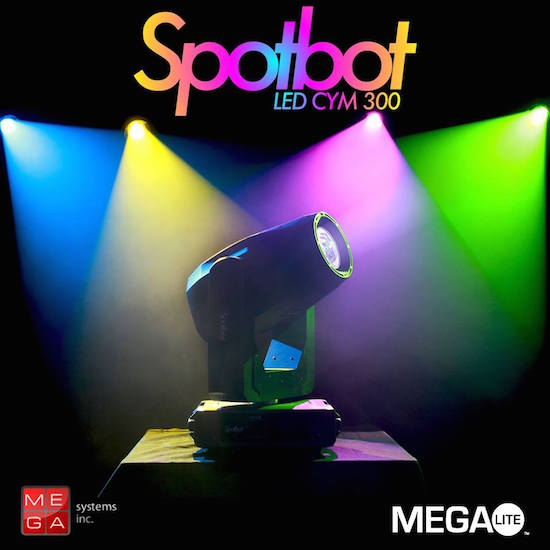 Spotbot LED CYM 300 versatile affordable LED moving light with rotating  prism, frost, zoom