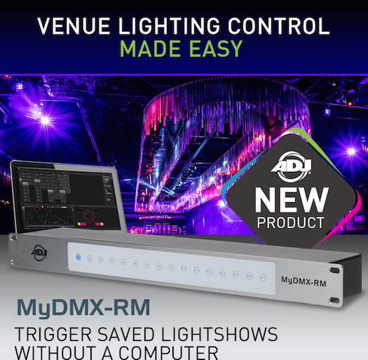 "MyDMX RM Multi platform DMX control software in a 19"" rack mount dongle"
